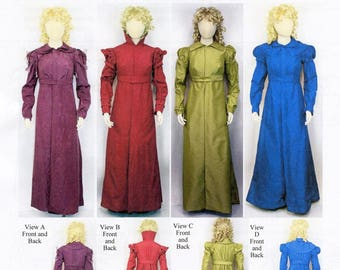 Ladies' Front Opening Pelisse and Spencer (Coat & Jacket) 1810-1825 Laughing Moon Sewing Pattern # 137