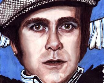 ACEO print Elton John art card