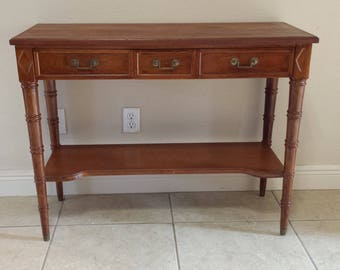 Faux Bamboo Solid wood foyer table made by Bodart Furniture SHIPPING NOT INCLUDED