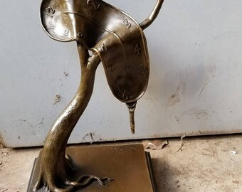 Abstract Modern Art Melting Clock by Salvador Dali