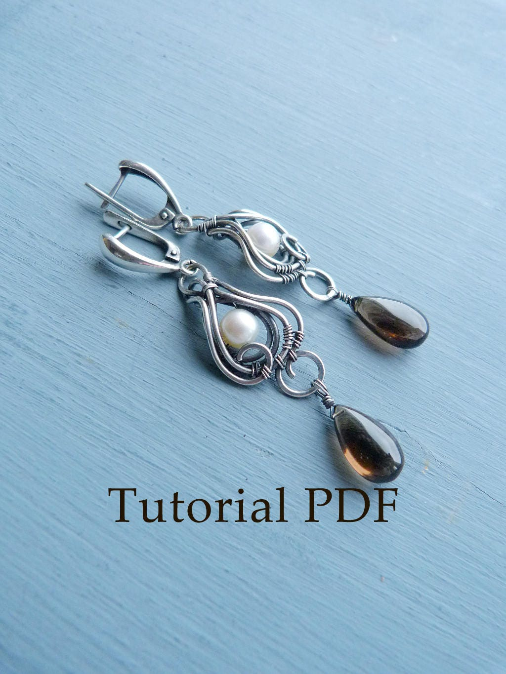 Silver earrings without soldering Tutorial jewelry DIY