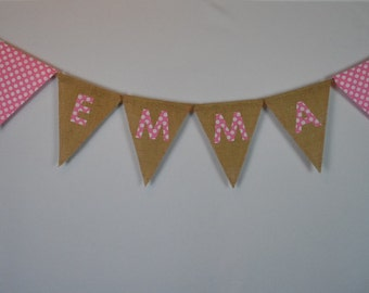 Name Pennant Birthday Banner-Personalized Banners-Birthday Banner-Custom Banners-Party Banner