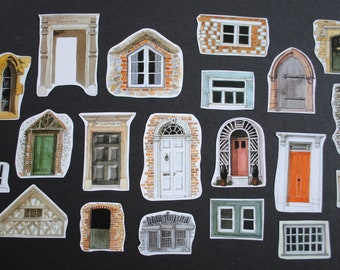 Small Modern Windows and Doors Inspiration Pack, Paper Ephemera, Scrap Pack, for Scrapbooking, Junk Journals, Smash books, Paper Crafts