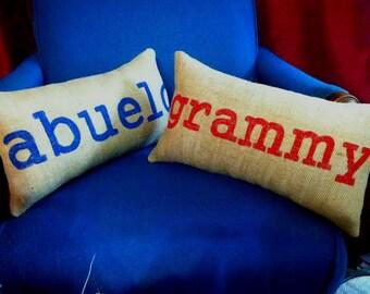 Custom Name Pillow, Personalized Pillow, Custom Burlap Pillow, Name Pillow, Nursery Pillow, Family Name Pillow, Personalized Burlap Pillow