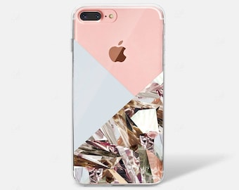 Abstract Geometric Holographic Crystal Diamond iPhone X Case iPhone 6 iPhone 7 iPhone 7 PLUS iPhone 6 PLUS iPhone 8 Samsung Galaxy S8 Clear