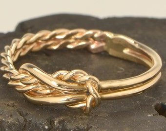 Infinity Knot Ring w/giftbox, Gold Filled Reef Knot, Infinity Knot Jewelry, Love Knot Ring, Gold Infinity Knot Ring, Gift For Her