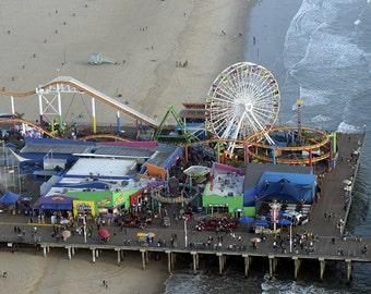 Santa Monica Pier - Aerial View