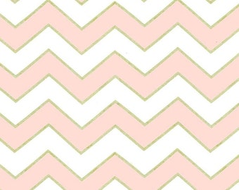 1 yard of Confection Chic Chevron Pearlized by Michael Miller Fabrics