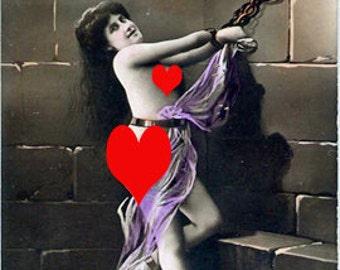 Woman in Chains - carte de voeux de carte Note intime MATURE