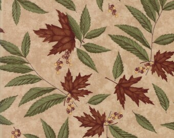 Moda COUNTRY ROAD Quilt Fabric 1/2 Yard By Holly Taylor - Sandy Tan 6661 19