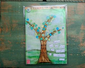 """VENTE! Impression, 5 """"x 7» l'arbre arbre Art, inspiration Art Print, arbre lunatique, Mixed Media impression, vente impression, soldes imprimer, arbre de la Nature"""