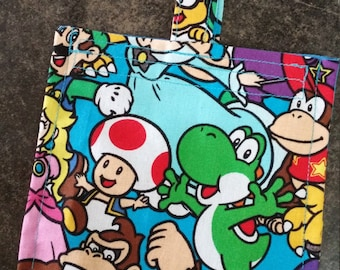 Nintendo Reusable Snack Bag Eco Friendly / 2 sizes / Choice of Lining
