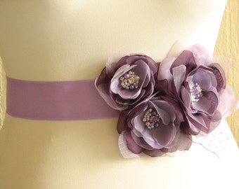 Purple bridal sash Lilac wedding sash Purple ribbon sash Lilac purple wedding sash Purple wedding dress Lilac wedding dress Purple dress