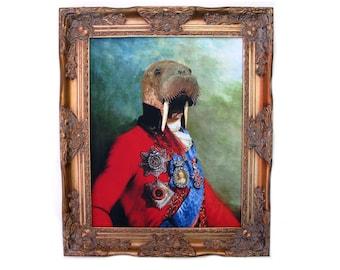 "Sir Odobenus Rosmarus -  Ornate Frame 25.5"" X 21.5"""