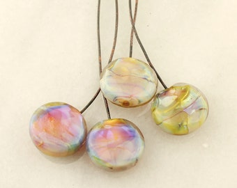 Lampwork Beads, Headpins, Glass Head Pins,  Headpin on 20Ga Antique Copper Wire, Iridescent Hot Pink, Blue, Lavender, Green,Gold