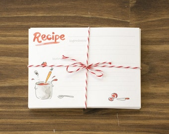 tomato red mixing ingredients recipe cards box of 24