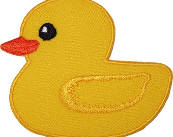 Yellow Duck Embroidered Iron / Sew On Patch Jacket Coat T Shirt Embroidery Badge