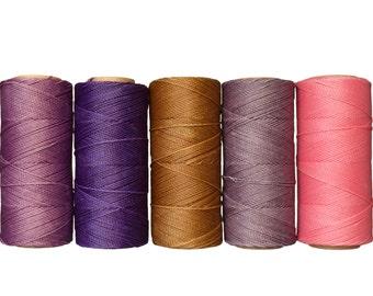 Macrame Cord - Waxed Polyester - Macrame Thread - Linhasita - Waxed Polyester - Crochet Thread