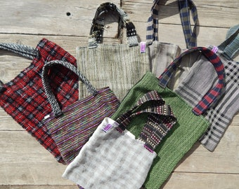 Tote bag tote bag choice, woven natural fabrics, shapes and colors.
