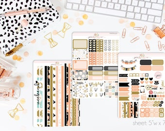 Sugarplum HORIZONTAL Weekly Kit // 130+ Matte Planner Stickers // Perfect for your Erin Condren Life Planner // WKH0430