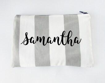 Personalized Makeup Bag - Bridesmaid Bag - Cosmetic Bag - Toiletry Bag - Wallet - Medium