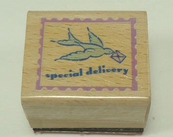 Special Delivery Wood Mounted Rubber Stamp
