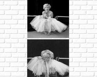 Marilyn Monroe - Set of 2 Photos - 1954 - Ballerina - Milton Greene - Vintage - Print - Photo - Celebrity - Norma Jean - Art - Hollywood
