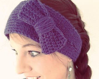 Knit Earwarmer with Bow