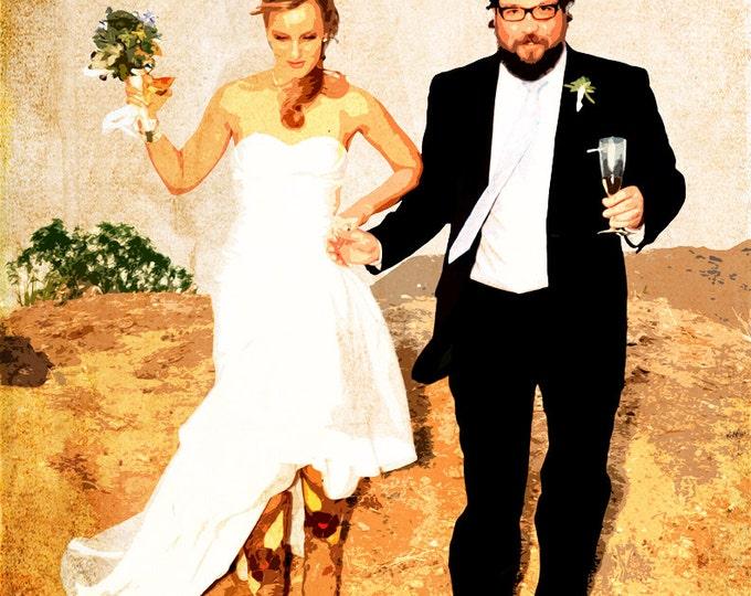 Custom Canvas Wedding Decoration or Wedding Anniversary Gift 16x20