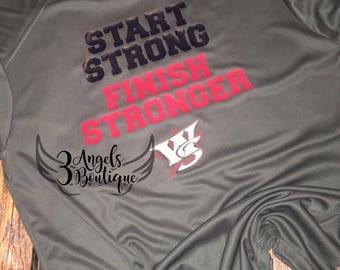 Start Strong Finish Stronger Wichita Sluggers Tee