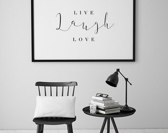 Love Quote Print, Black and White Quote Print, Inspirational Quote Print, Typography Poster, Home Decor Wall Art Large