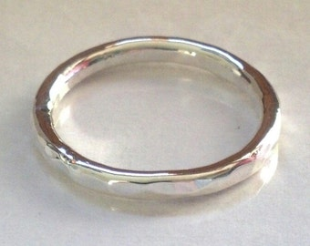 sterling silver solid 12 gauge thick ring band high polish matte finish