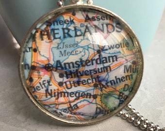Amsterdam Map Pendant Necklace