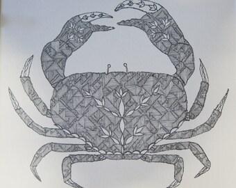 ORIGINAL CRAB drawing