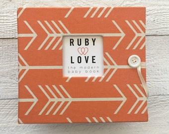 BABY BOOK | Orange Arrows Silhouette Album