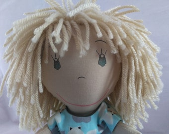 Handmade Soft Rag Doll, African American Doll, Shower gift, Girls Birthday gift, Wedding Dolls, Personalized Dolls, Plush Doll, Stuffed Doll