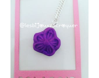 Purple candy necklace