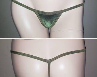 Velvet G-string, Velvet Panties, Velvet Lingerie, Gift for Women, G-strings, Micro Thong, Velvet Bikini, Thong Bikini, Velvet Thong, Panty