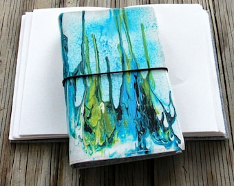 Depth Journal with original art cover for travel vacation life plan journaling by tremundo