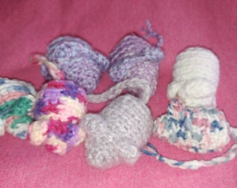 Crochet Catnip Mice