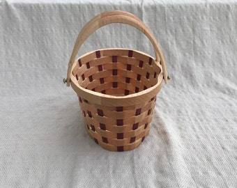 Small Oval Flower girl basket with handles