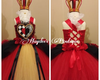 Red Queen Tutu Dress Set