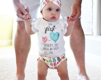 First Father's Day Gift, Daddy and Me Father's Day Onesie®, Father's Day Matching Onesie®, Custom Father's Day Gift, Father's Day Gift