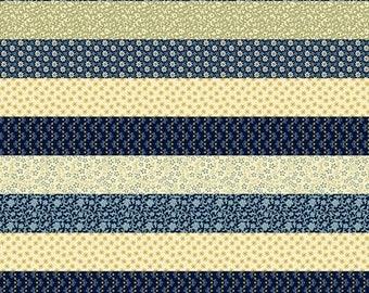 Marcus COLOR IT BLUE Cotton Stripe Fabric - 1 Yard