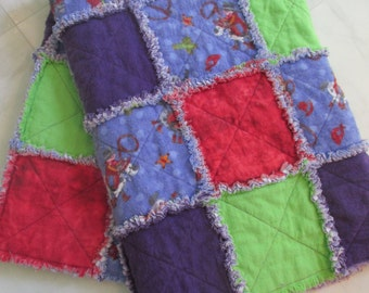 Colorful Cowboy Flannel Ragtime Baby Quilt