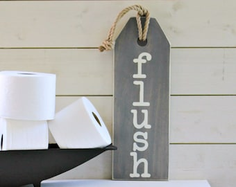 Rustic Bathroom Sign - Floss Wash Soak Relax Flush Sign - Rustic Bathroom Sign - Bathroom Rules Sign - Bathroom Art - Rustic Home