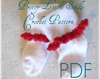 Pretty Little Ruffle Socks - CROCHET Pattern PDF ebook