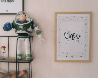A4 print: To infinity and beyond