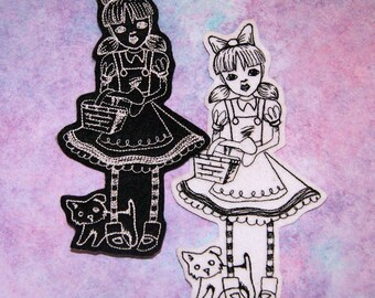 Dorothy and Toto- Wizard of Oz Iron On Embroidery Patch MTCoffinz - Choose Size