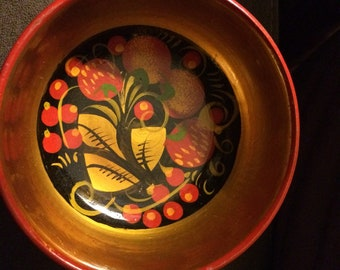 Small hand painted bowl from Russia.